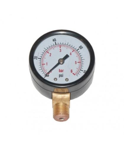 Водяной манометр давления радиальный 0-6 бар, Ø 50 мм